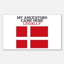 Danish Heritage Rectangle Decal