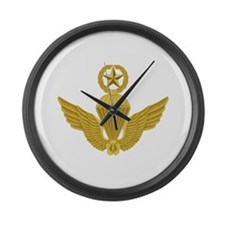 S Korean Jump Wings Gold Large Wall Clock