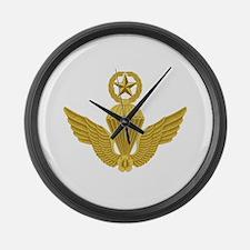 S Korean Jump Wings Gold Large Wall Clock