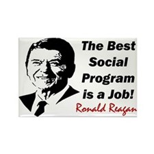 """Ronald Reagan: Get A Job!"" Magnet"