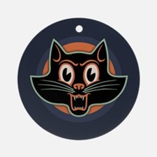Scary Cat II Ornament (Round)