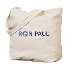 Ron Paul Blue Text Tote Bag