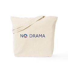 No Drama Blue Text Tote Bag