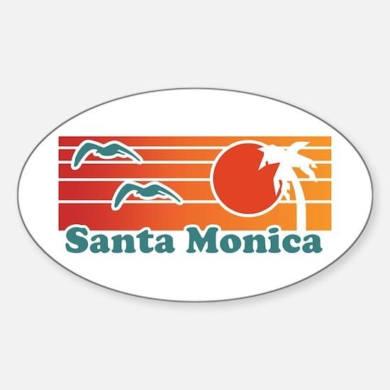 Santa Monica Sticker (Oval)