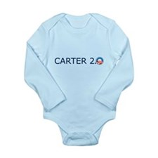 Carter 2.0 Blue Text Long Sleeve Infant Bodysuit