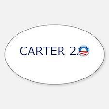 Carter 2.0 Blue Text Sticker (Oval)