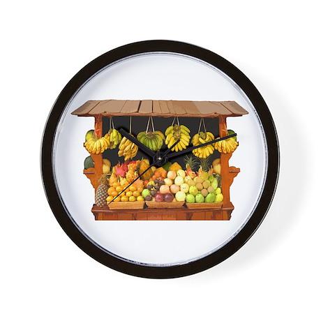 Fruit Stall Wall Clock
