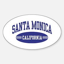 Santa Monica California Sticker (Oval)