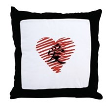 Chinese Symbol for Love Throw Pillow