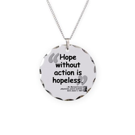 Lown Hope Quote Necklace Circle Charm