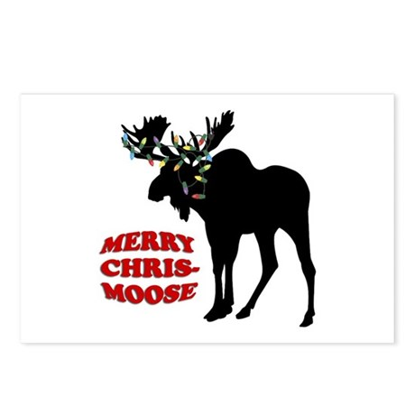 Merry Chrismoose Postcards (Package of 8)
