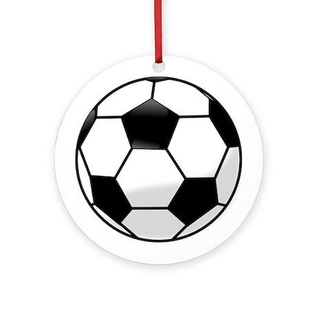 Soccer Ball Football Ornament (Round)