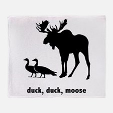 Duck, Duck, Moose Throw Blanket