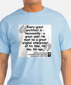 Wright Poet Quote T-Shirt
