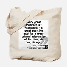 Wright Poet Quote Tote Bag