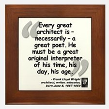 Wright Poet Quote Framed Tile