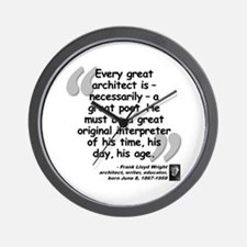 Wright Poet Quote Wall Clock