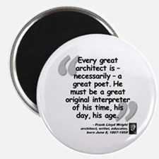 "Wright Poet Quote 2.25"" Magnet (10 pack)"