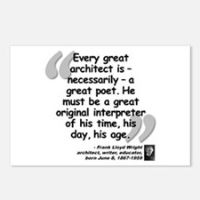 Wright Poet Quote Postcards (Package of 8)