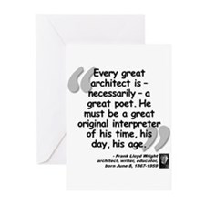 Wright Poet Quote Greeting Cards (Pk of 20)