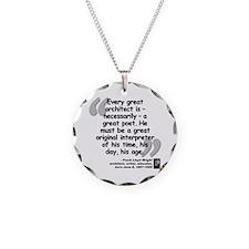 Wright Poet Quote Necklace