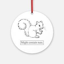 Nuts Squirrel Ornament (Round)