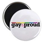 "Gay&proud White 2.25"" Magnet (100 pack)"