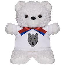 Grey Wolf Head Symbol Teddy Bear
