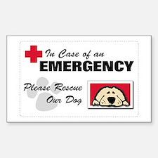 Please Rescue Dog Rectangle Bumper Stickers