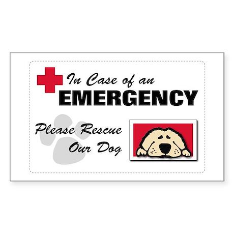 Please Rescue Dog Rectangle Sticker
