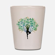 TREE POSE YOGA Shot Glass