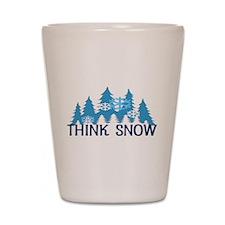 Think Snow Shot Glass