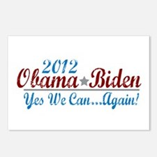 Obama 2012 Yes We Can Postcards (Package of 8)