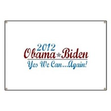 Obama 2012 Yes We Can Banner