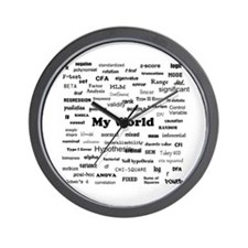 Stats are My World Wall Clock
