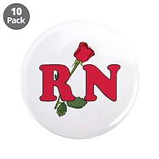 "RN Nurses Rose 3.5"" Button (10 pack)"