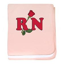 RN Nurses Rose baby blanket