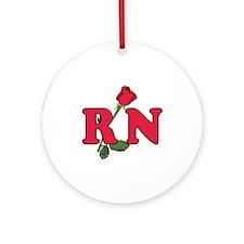 RN Nurses Rose Ornament (Round)