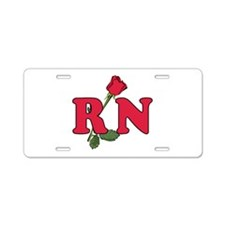 RN Nurses Rose Aluminum License Plate