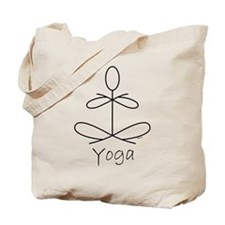 Yoga Glee in White Tote Bag