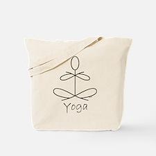 Yoga Glee in White Tote Bag