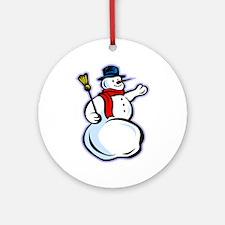 Snowman1 Ornament (Round)