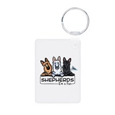 German Shepherd Fan Keychains