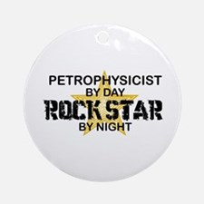 Petrophysicist Rock Star by Night Ornament (Round)