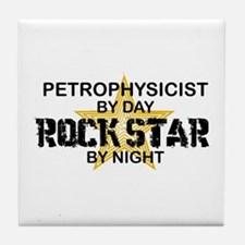 Petrophysicist Rock Star by Night Tile Coaster