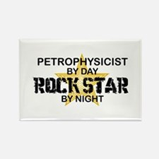 Petrophysicist Rock Star by Night Rectangle Magnet