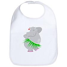 Hula Hippo Bib