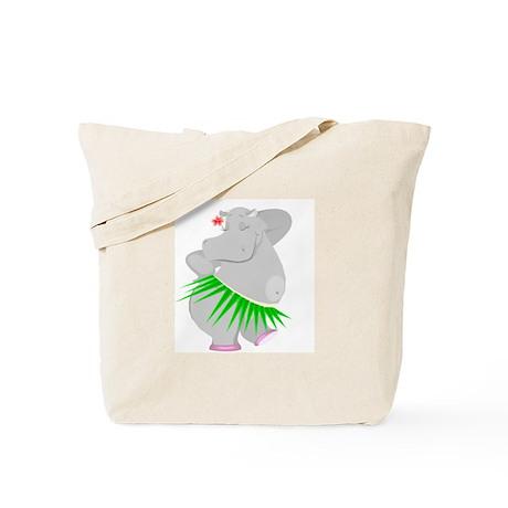 Hula Hippo Tote Bag