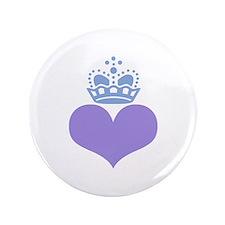 "heart and crown (mauve/blue) 3.5"" Button"