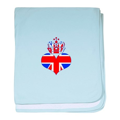 heart & crown (union jack) baby blanket